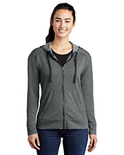 Sport-Tek LST293 Women PosiCharge ® Tri-Blend Wicking Fleece Full-Zip Hooded Jacket at GotApparel