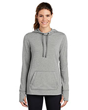 Sport-Tek LST296 Ladies PosiCharge Tri-Blend Wicking Fleece Hooded Pullover at GotApparel