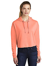 Sport-Tek LST298 Women PosiCharge ® Tri-Blend Wicking Fleece Crop Hooded Pullover at GotApparel