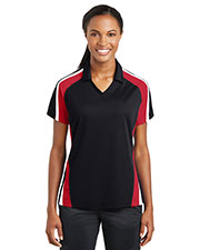 Sport-Tek LST654 Women Tricolor Micropique Sport-Wick Polo at GotApparel