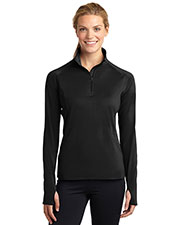 Sport-Tek LST850 Women Sport-Wick Stretch 1/2Zip Pullover at GotApparel