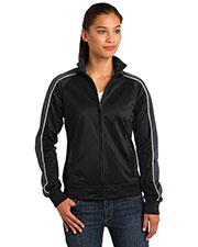 Sport-Tek LST92 Women Piped Tricot Track Jacket at GotApparel