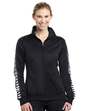 Sport-Tek LST93 Women Dot Sublimation Tricot Track Jacket at GotApparel