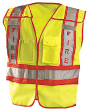 OccuNomix LUXPSF Men Premium Solid Public Safety Fire Vest at GotApparel