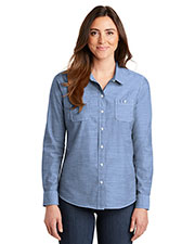 Port Authority LW380 Women 3 oz Slub Chambray Shirt at GotApparel