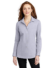 Port Authority LW645 Women Pincheck Easy Care Shirt at GotApparel