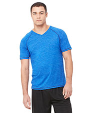 All Sport M1105 Men for Team 365 Performance Triblend short sleeve VNeck TShirt at GotApparel