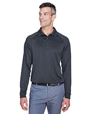 Harriton M211L Men 6.6 oz Tactical Long-Sleeve Performance Polo at GotApparel