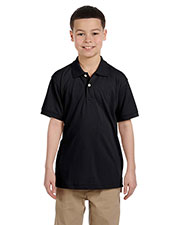 Harriton M265Y Boys 5.6 oz. Easy Blend Polo at GotApparel