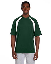 Harriton M322 Men 4.2 oz. Athletic Sport Colorblock TShirt at GotApparel