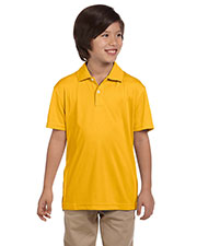Harriton M353Y Boys Double Mesh Sport Shirt at GotApparel