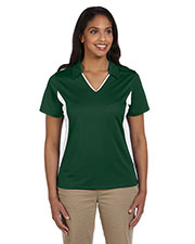 Harriton M355W Women's Side Blocked Micro-Pique Polo at GotApparel