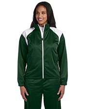 Harriton M390W Women Tricot Track Jacket at GotApparel