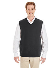 Harriton M415  Men's Pilbloc™ V-Neck Sweater Vest at GotApparel