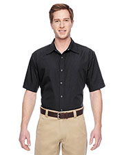 Harriton M545 Men Advantage Snap Closure Short-Sleeve Shirt at GotApparel