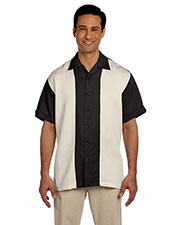Harriton M575 Men Two-Tone Bahama Cord Camp Shirt at GotApparel