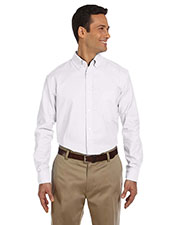 Harriton M600 Men LongSleeve Oxford with Stain Release at GotApparel