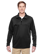 Harriton M730 Adult Task Performance Fleece HalfZip Jacket at GotApparel