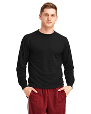 Soffe M875 Men Adult Long-Sleeve-Tee Dri-Release 85/15 Poly/Cotton at GotApparel