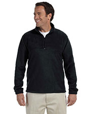Harriton M980 Men 8 oz. Quarter-Zip Fleece Pullover at GotApparel