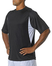 A4 N3181 Men Cooling Performance Color Block Tee at GotApparel