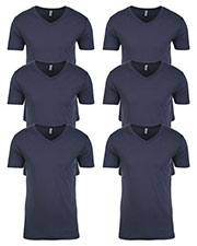 Next Level N3200 Men Premium Fitted Short-Sleeve V-Neck Tee 6-Pack at GotApparel