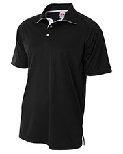 A4 N3293 Men Interlock Contrast Polo at GotApparel
