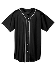 A4 N4184 Men Short Sleeve Full Button Baseball Top at GotApparel