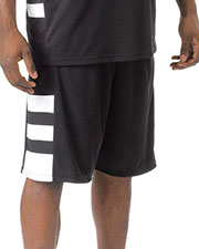"A4 Drop Ship N5334 Men's 10"" Inseam Reversible Speedway Shorts at GotApparel"