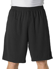 "A4 N5338 Men 9"" Moisture Managet Short With Side Pocket at GotApparel"