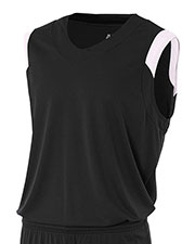 A4 NB2340 Boys Moisture Management V-Neck Muscle at GotApparel