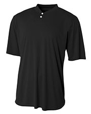 A4 Drop Ship NB3143 Boy's Tek 2-Button Henley Jersey at GotApparel