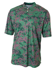 A4 NB3263 Boys Camo Two Button Henley at GotApparel