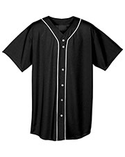 A4 NB4184 Boys Short Sleeve Full Button Baseball Top at GotApparel