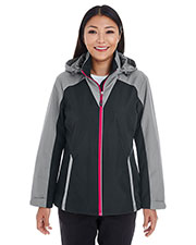 Ash City NE700W  Ladies' Embark Interactive Colorblock Shell With Reflective Printed Panels at GotApparel