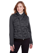 North End NE710W Women Pioneer Hybrid Bomber Jacket at GotApparel
