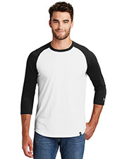 Custom Embroidered New Era NEA104 Men 4.4 oz Heritage Blend 3/4-Sleeve Baseball Raglan Tee at GotApparel