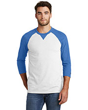 Custom Embroidered New Era NEA121 Men 5 oz Sueded Cotton Blend 3/4-Sleeve Baseball Raglan Tee at GotApparel