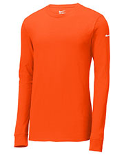 Nike NKBQ5232 Men 4.6 oz Core Cotton Long Sleeve Tee at GotApparel