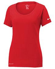 Nike NKBQ5234 Ladies 4.7 oz Dri-FIT Cotton/Poly Scoop Neck Tee at GotApparel