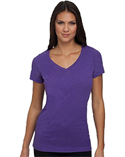 Next Level NL6840  Ladies' Slub V-Neck Tee at GotApparel