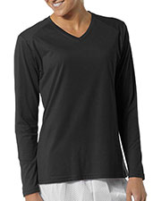 A4 Drop Ship NW3233 Women's Long Sleeve Fusion Performance V-Neck at GotApparel