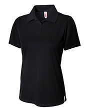 A4 Drop Ship NW3265 Women's Textured Polo Shirt with Johnny Collar at GotApparel