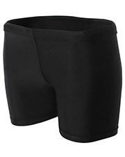 "A4 Drop Ship NW5313 Women's 4"" 4"" Inseam Compression Shorts at GotApparel"