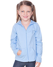 Little Girls 3-6X Long Sleeve Zip Hoodie at GotApparel