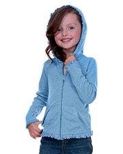 Little Girls 3-6X Sunflower Long Sleeve Zip Hoodie at GotApparel