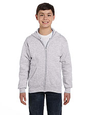 Hanes P480 Boys 7.8 oz. ComfortBlend EcoSmart 50/50 Full Zip Hood at GotApparel