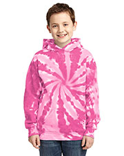Port & Company PC146Y Boys Essential TieDye Pullover Hooded Sweatshirt at GotApparel