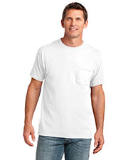 Port & Company PC54P Men 54oz 100% Cotton Pocket T-Shirt at GotApparel