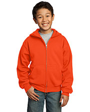 Port & Company PC90YZH Boys FullZip Hooded Sweatshirt at GotApparel